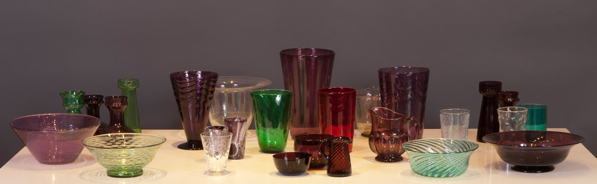 A selection of Glass on a table