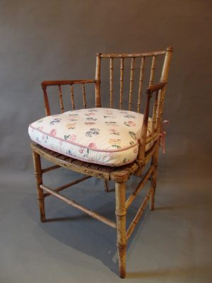 Faux Bamboo Painted Armchair