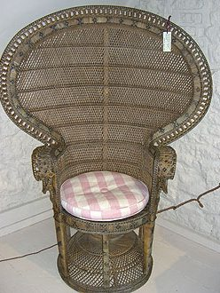 Wicker work and Cane Peacock Chair