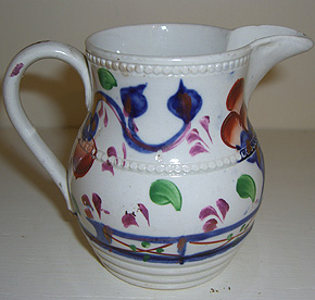 Small Gaudy Welsh Cream Jug