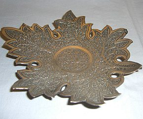 Kashmiri Silver Sweetmeat Dish in the Shape of a Leaf