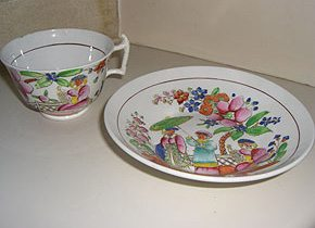 Chinoiserie Teacup and Saucer