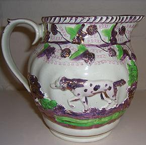 Moulded Pottery Jug