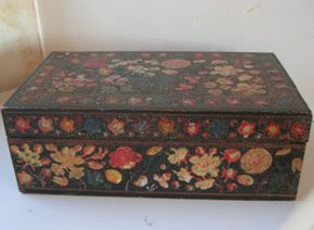 Polychrome Painted Lacquer Box