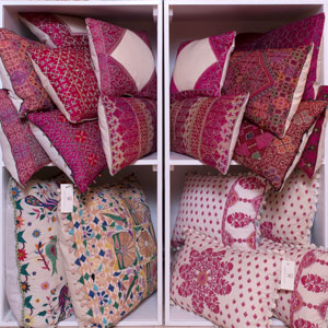 Cushions and textiles